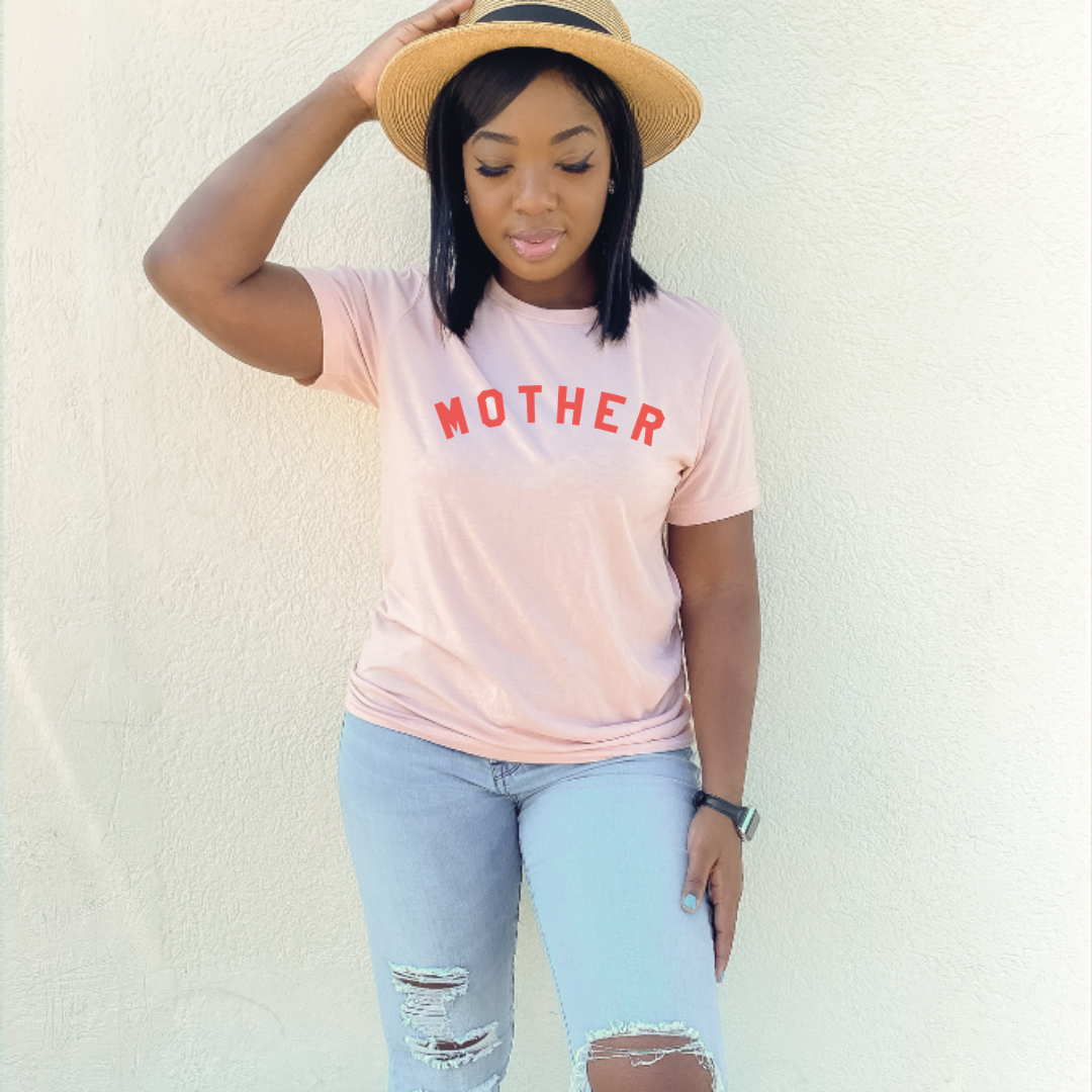 Mother peach tee