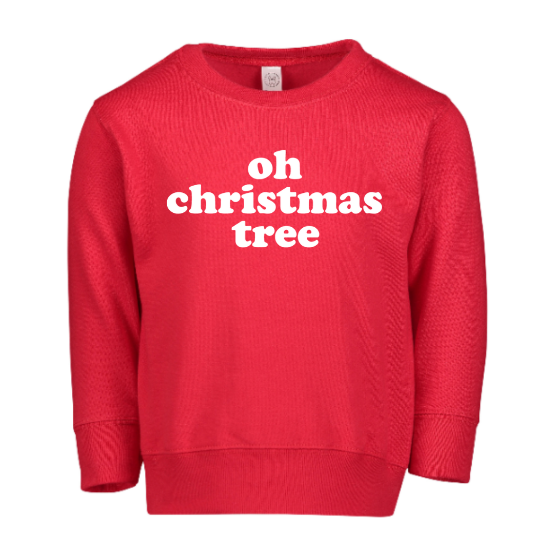 Oh Christmas tree kids sweatshirt