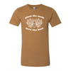save the bees adult tee, save the bees, brown nature tee, bee tee, unisex brown tee, nature supply co, plant the seeds saves the bees tee
