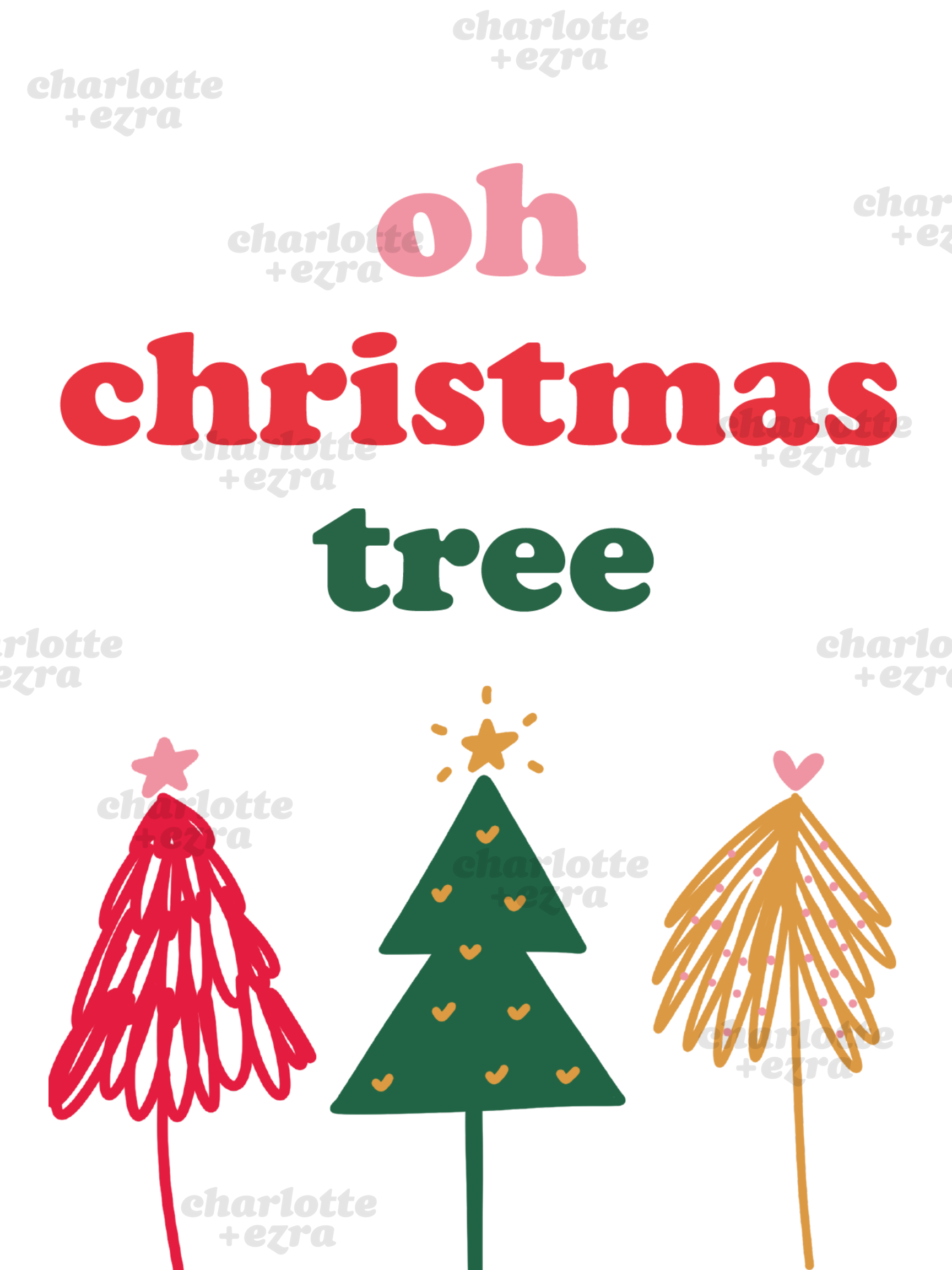 Oh Christmas tree printable