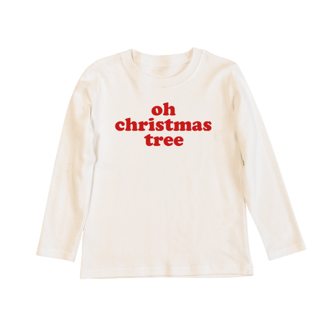 Oh Christmas tree Long sleeve tee OR onesie