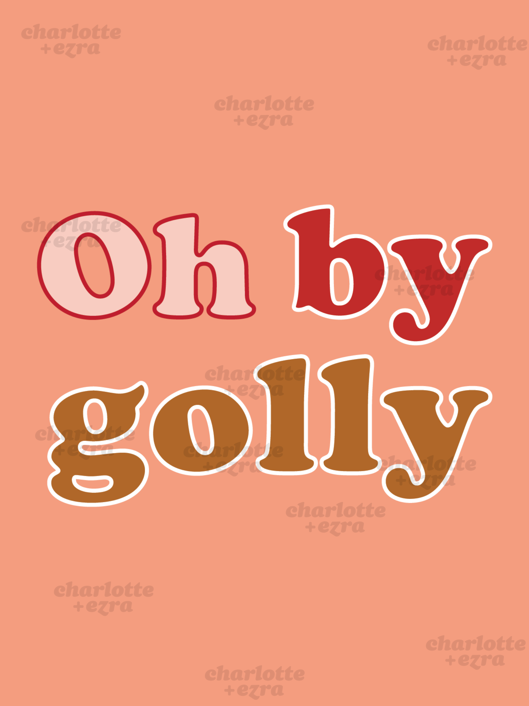 Oh by golly printable