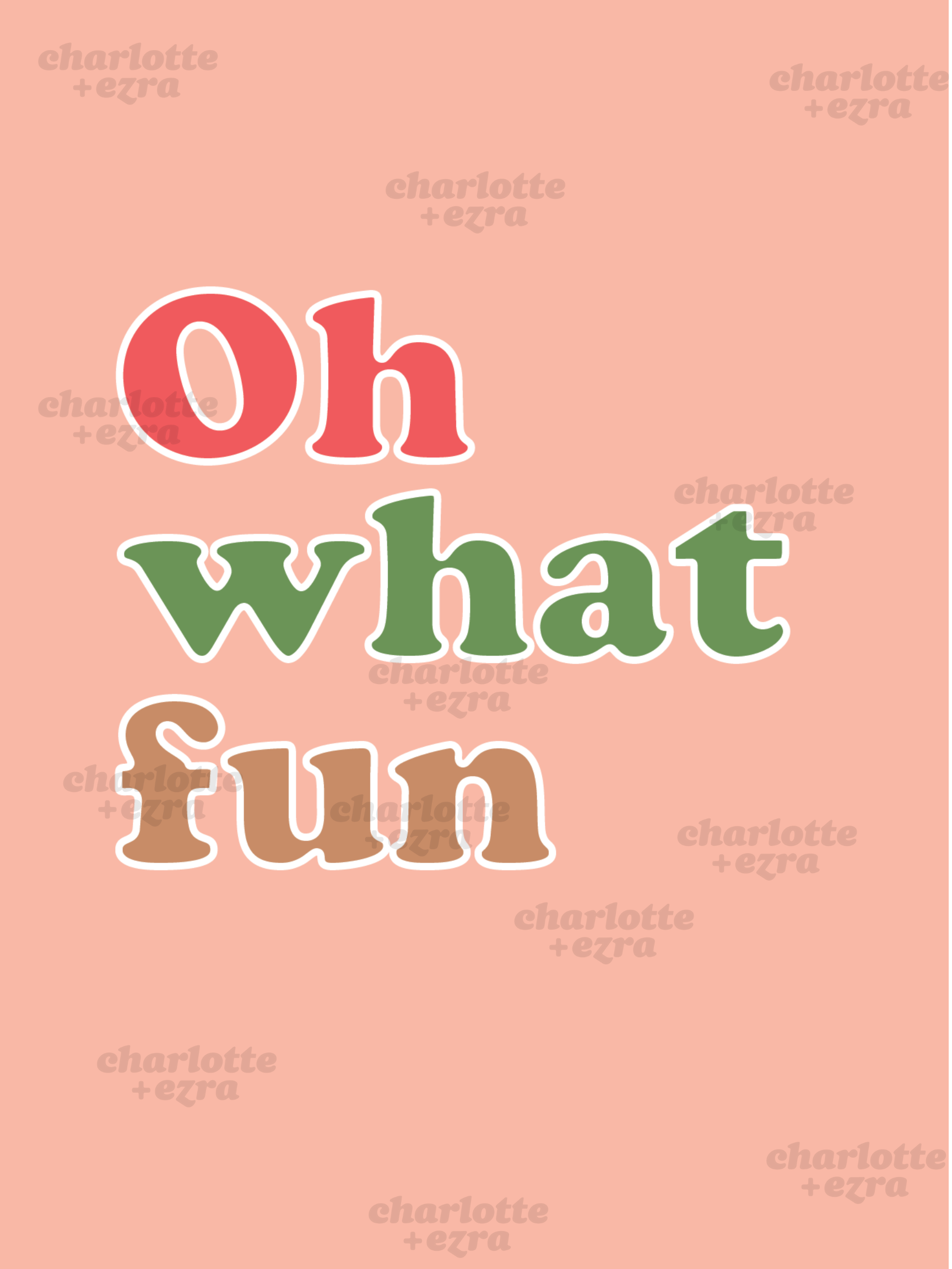 Oh what fun printable