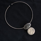 Variations Collar Necklace - Fossil Coral, Cast Coral and Sterling Silver
