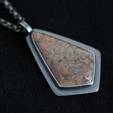 Modern Armor Necklace - Fossil Fern and Sterling Silver