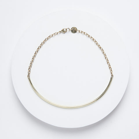 Closed Curves Necklace - Brass Choker