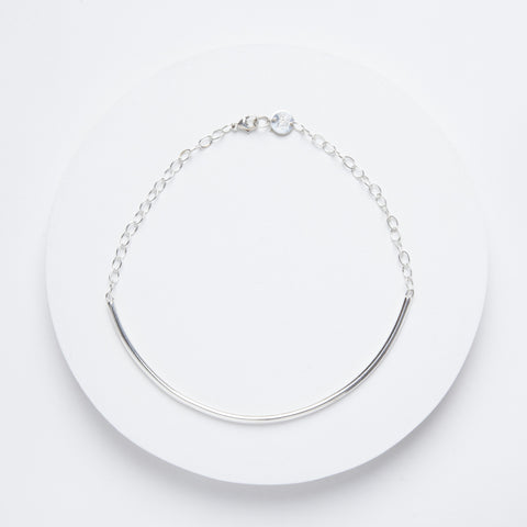 Closed Curves Necklace - Sterling Silver Choker