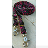 "Custom Adjustable Riding Reins, 3/4"" width"