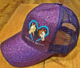 Reins For Rescues Glitter Ponytail Hats
