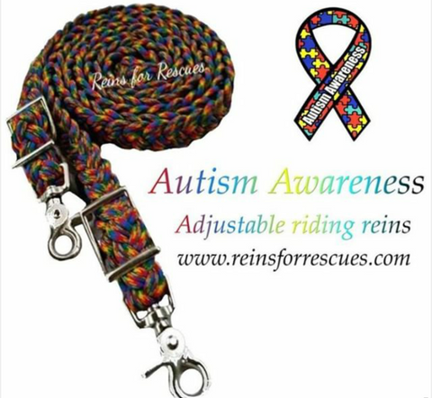 Autism Awareness Adjustable Riding Reins