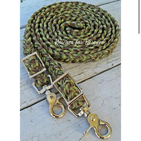 Simon Strong Camo/Camoflage Adjustable Riding Reins