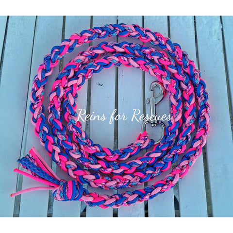 Pink Twist Lead Rope with Lavender & Fairytale