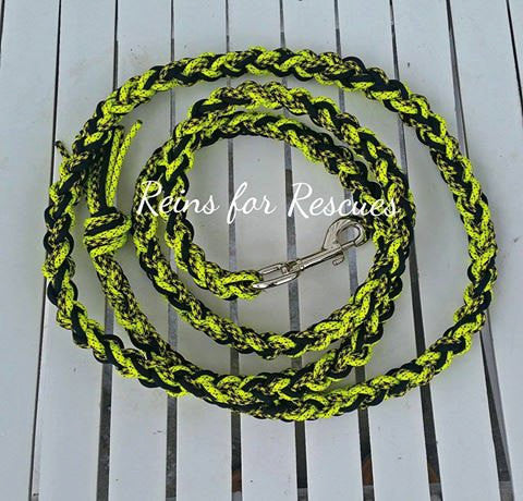Neon Yellow & Black Lead Rope