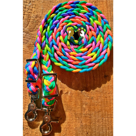 Neon Reinbow Adjustable Riding Reins