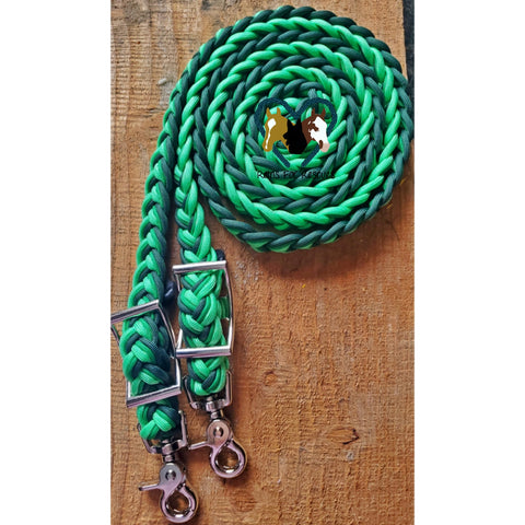 Shamrock Green Adjustable Riding Reins
