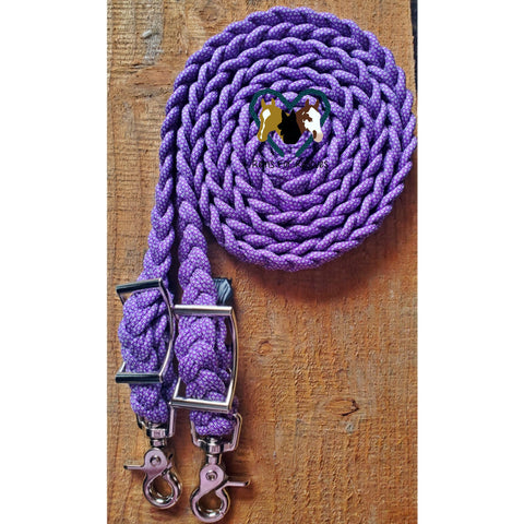 Purple Diamond Adjustable Riding Reins