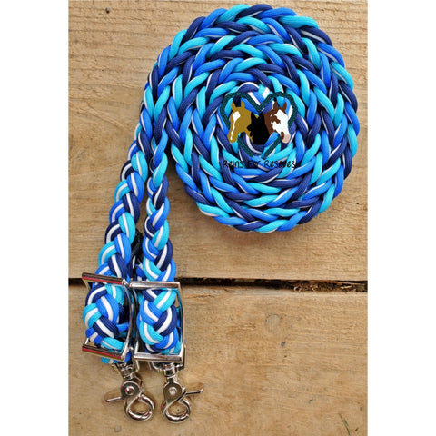 Cool Blue Adjustable Riding Reins