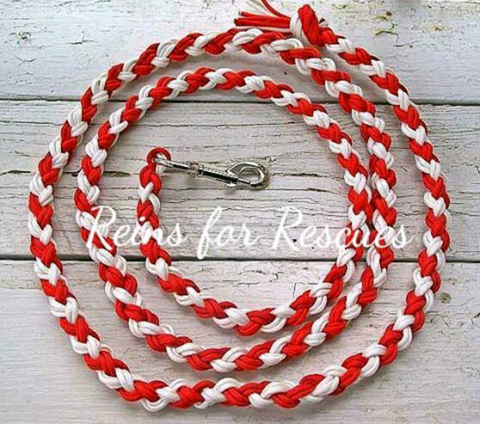 Red & White Lead Rope - Candy Cane