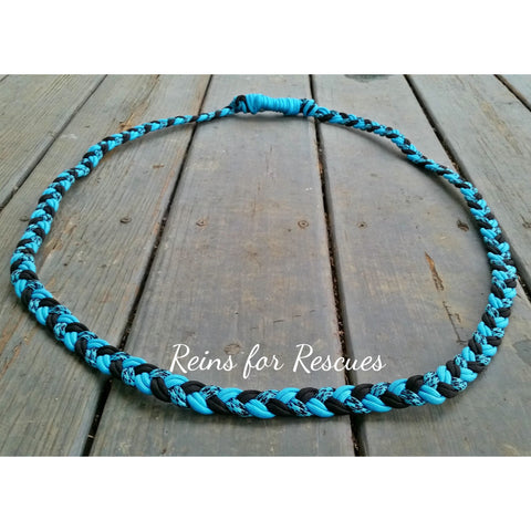 Turquoise, Black & Turquoise with Black Speckled Neck Rope