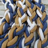 Navy Blue, Tan & White Lead Rope