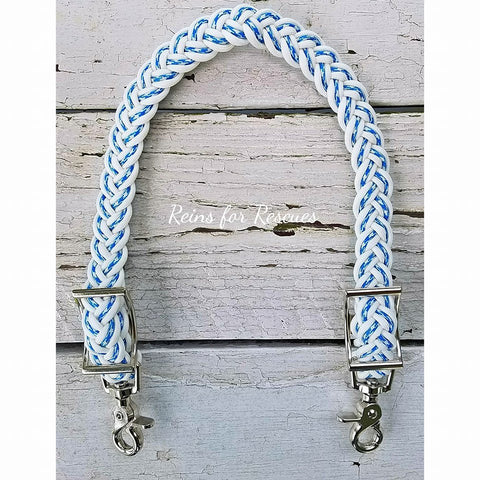White & Blue/White Check Wither Strap