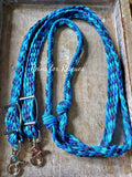 Custom Flat Braided Adjustable Riding Reins
