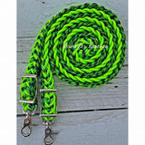 "Rescue line:  ""George's Greens"" Adjustable Riding Reins"