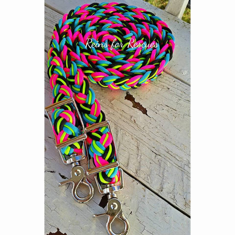 Neon Party Adjustable Riding Reins