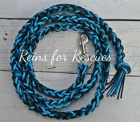 Teal, Turquoise & Black Lead Rope