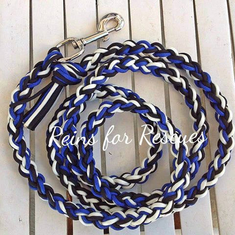 Royal Blue, Black & White Lead Rope