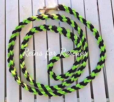 Reflective Green & Black Dog Leash