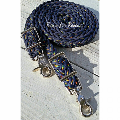 Navy Blue & Galaxy Adjustable Riding Reins