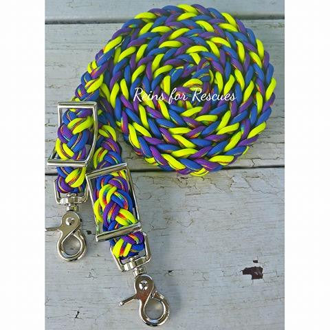 Rainbow Heavens Adjustable Riding Reins