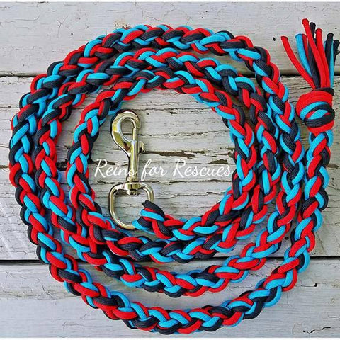 Red, Black & Turquoise Lead Rope