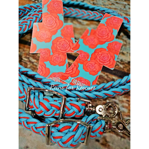 Red Rose & Turquoise Collection with Stirrupz