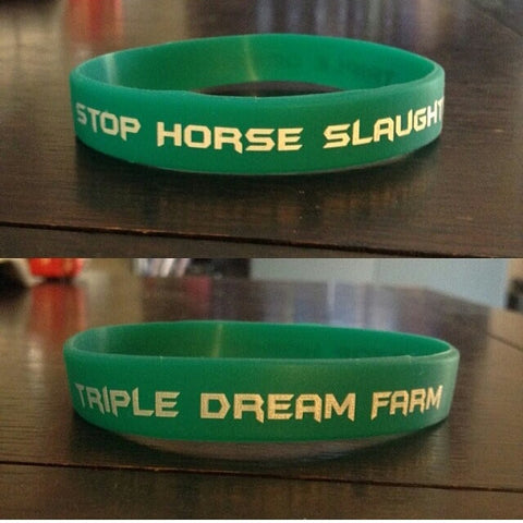 Stop Horse Slaughter/Triple Dream Farm Support Bracelet, Teal