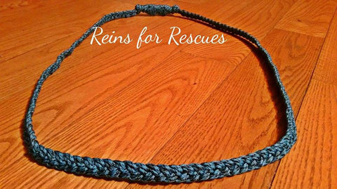 Turquoise & Black Speckled Neck Rope