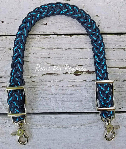 Turquoise & Black Pattern with Black Wither Strap