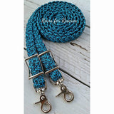 Turquoise Speckled Adjustable Riding Reins