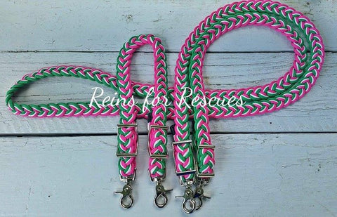 Custom Wither Strap & Adjustable Riding Reins Set