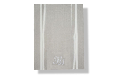 Monogram tea towel, Linen