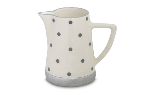 Grey polka dot jug