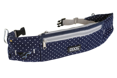 DOOG Walkie Belt - Stella Print (Navy and White spots)