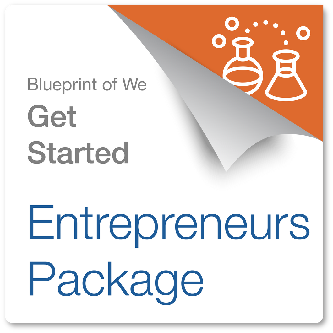 Blueprint of We Get Started Package for Entrepreneurs: In-Person or Virtual Facilitation