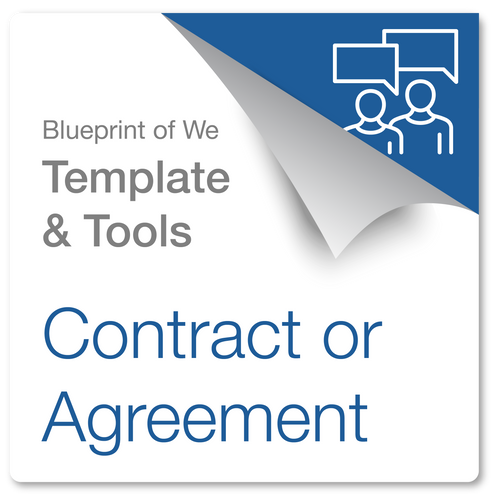 Contract or Agreement: Blueprint of We Template & Collaborative Awareness Coaching