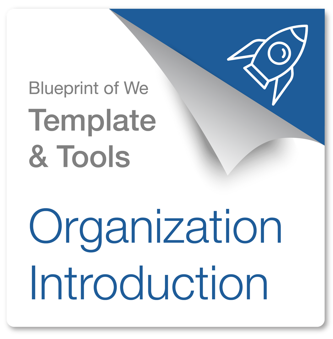 Business or Organization Introduction: Blueprint of We Template & Collaborative Awareness Coaching