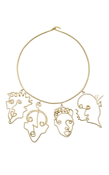 Rosie Assoulin Four Faces Necklace