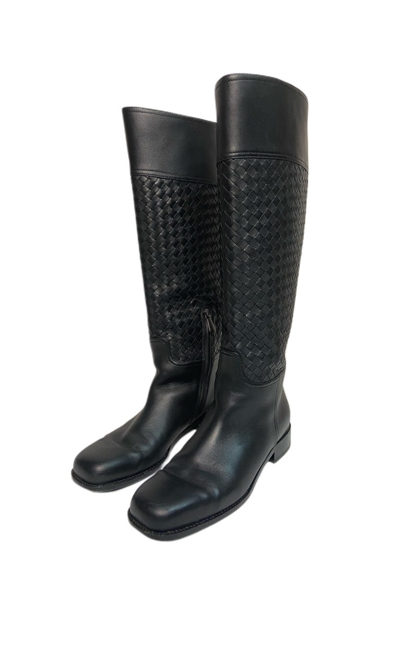 Bottega Veneta Woven Riding Boots
