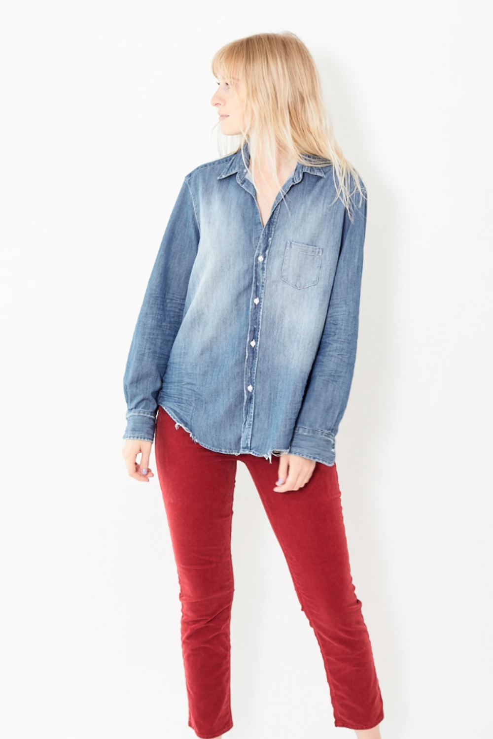 Frank & Eileen Eileen Denim Button Up