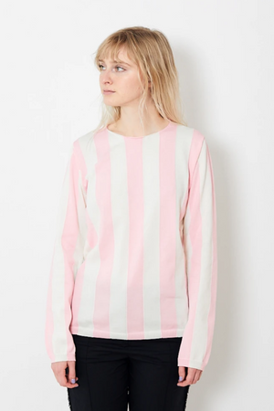 Comme des Garçons SHIRT Polyester Fully Fashion Striped Crew Neck Sweater